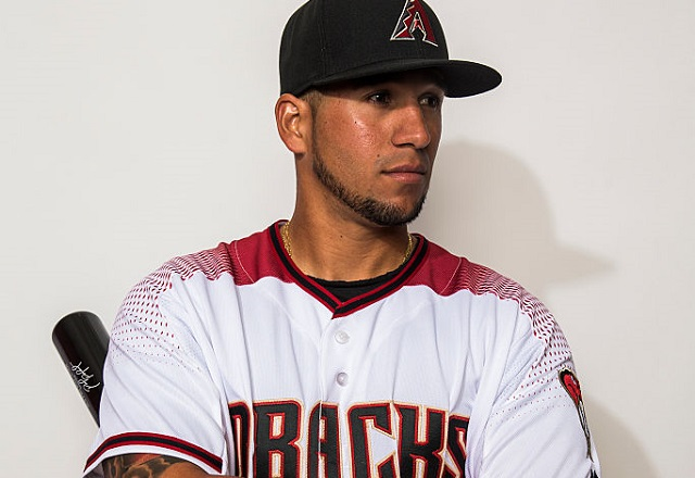 SCOTTSDALE, AZ - FEBRUARY 28: David Peralta #6 of the Arizona Diamondbacks poses during photo day at Salt River Fields at Talking Stick on February 28, 2016 in Scottsdale, Arizona. (Photo by Rob Tringali/Getty Images)