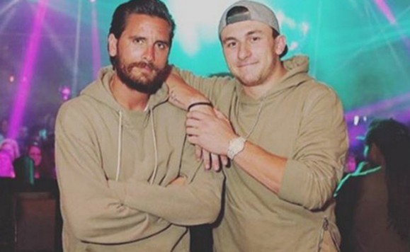 Johnny Manziel Scott Disick matching shirts