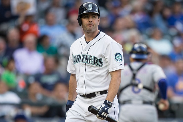 SEATTLE, WA - SEPTEMBER 7: Seth Smith #7 of the Seattle Mariners walks off the field after an at-bat during a game against the Texas Rangers at Safeco Field on September 7, 2015 in Seattle, Washington. The Rangers won the game 3-0. (Photo by Stephen Brashear/Getty Images)  *** Local Caption *** Seth Smith