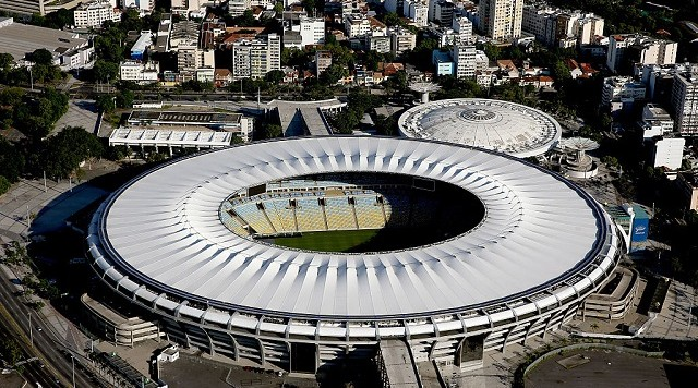 RIO DE JANEIRO, BRAZIL - FEBRUARY 05: Aerial view of Maracana and Maracanazinho with six months to go to the Rio 2016 Olympic Games on February 5, 2016 in Rio de Janeiro, Brazil. (Photo by Matthew Stockman/Getty Images)