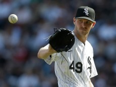CHICAGO, IL - MAY 23: Chris Sale #49 of the Chicago White Sox pitches during the third inning against the Minnesota Twins at U.S. Cellular Field on May 23, 2015 in Chicago, Illinois. (Photo by Mike McGinnis/Getty Images)  *** Local Caption *** Chris Sale
