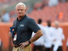 CLEVELAND, OH - AUGUST 28:  Cleveland Browns owner Jimmy Haslam looks on prior to the preseason game against the Chicago Bears at FirstEnergy Stadium on August 28, 2014 in Cleveland, Ohio.  (Photo by Jason Miller/Getty Images)