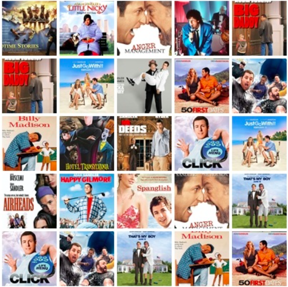 adam sandler movies list all