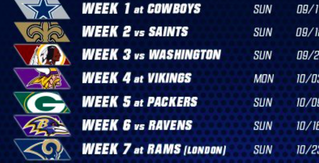 "New York Giants avoid saying ""Redskins"" on their 2016 schedule ..."