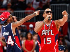ATLANTA, GA - APRIL 22:  Rapper Ludacris performs at halftime during Game Two of the Eastern Conference Quarterfinals of the NBA Playoffs between the Atlanta Hawks and the Brooklyn Nets at Philips Arena on April 22, 2015 in Atlanta, Georgia.  NOTE TO USER: User expressly acknowledges and agrees that, by downloading and/or using this photograph, user is consenting to the terms and conditions of the Getty Images License Agreement.  (Photo by Kevin C. Cox/Getty Images)
