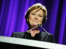 NEW YORK - OCTOBER 13:  Basketball coach Pat Summitt speaks onstage during the 30th Annual Salute To Women In Sports Awards at The Waldorf=Astoria on October 13, 2009 in New York City.  (Photo by Stephen Lovekin/Getty Images for the Women?s Sports Foundation)