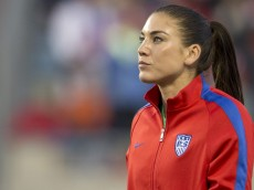 CHESTER, PA - OCTOBER 26: Hope Solo #1 of the United States walks on the field prior to the game against Costa Rica in the 2014 CONCACAF Women's Championship final on October 26, 2014 at PPL Park in Chester, Pennsylvania. (Photo by Mitchell Leff/Getty Images)