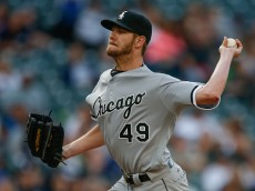SEATTLE, WA - JULY 18:  Starting pitcher Chris Sale #49 of the Chicago White Sox pitches against the Seattle Mariners in the first inning at Safeco Field on July 18, 2016 in Seattle, Washington.  (Photo by Otto Greule Jr/Getty Images)