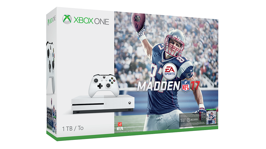 latest xbox one s bundle includes madden 17 nfl shop coupon