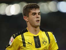 SHENZHEN, CHINA - JULY 28:  Christian Pulisic of Borussia Dortmund in action during the 2016 International Champions Cup match between Manchester City and Borussia Dortmund at Shenzhen Universiade Stadium on July 28, 2016 in Shenzhen, China.  (Photo by Lintao Zhang/Getty Images)
