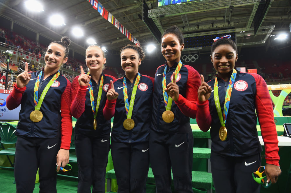 Some 2016 Olympic gold-medal-winning gymnasts got into a feud Friday.
