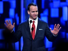 LOS ANGELES, CA - AUGUST 27:  Retired NFL player Peyton Manning speaks onstage at The Comedy Central Roast of Rob Lowe at Sony Studios on August 27, 2016 in Los Angeles, California. The Comedy Central Roast of Rob Lowe will premiere on September 5, 2016 at 10:00 p.m. ET/PT.  (Photo by Alberto E. Rodriguez/Getty Images)