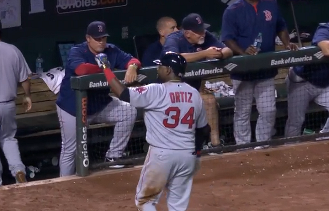 VIDEO: David Ortiz tells heckling Orioles fan 'next time', homers next time