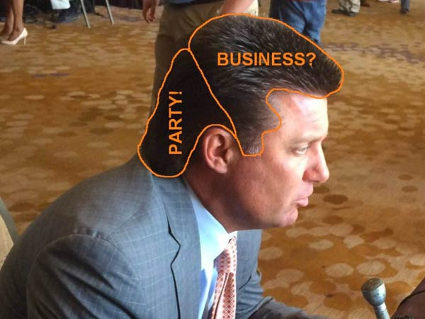 Oklahoma State Selling Mike Gundy Mullet And Visor T Shirts