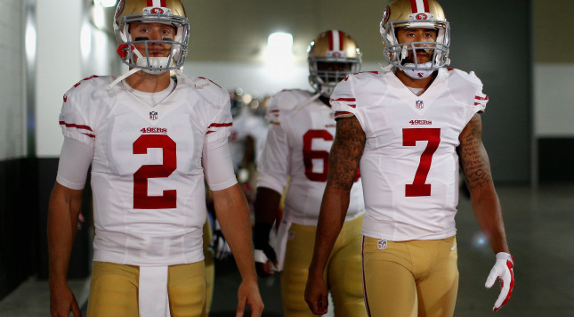 Gabbert's struggles lead to calls for Kaepernick