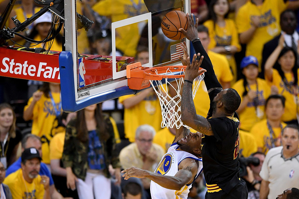 in Game 7 of the 2016 NBA Finals at ORACLE Arena on June 19, 2016 in Oakland, California. NOTE TO USER: User expressly acknowledges and agrees that, by downloading and or using this photograph, User is consenting to the terms and conditions of the Getty Images License Agreement.