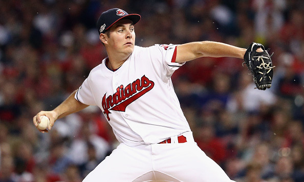 Indians pitcher Trevor Bauer cuts finger, won't start Game 2
