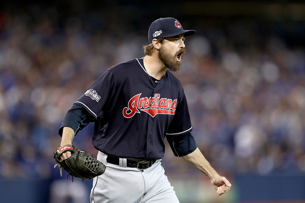 Indians' Andrew Miller Leaves Game With Apparent Injury