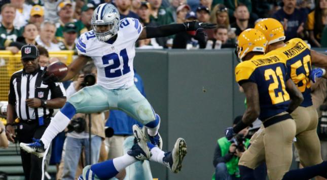 Elliott sets Cowboys rookie rushing record