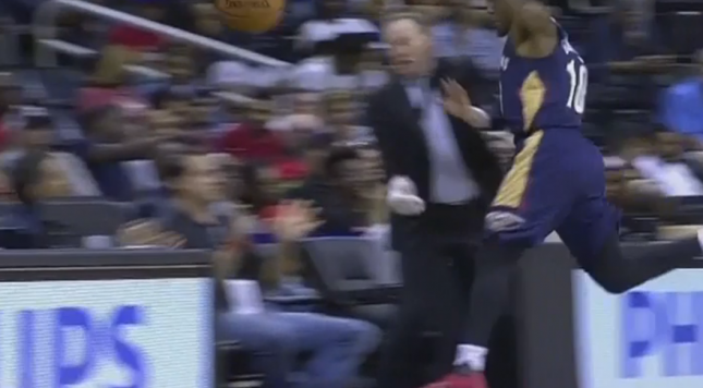 Hawks coach leaves game after colliding with opposing player