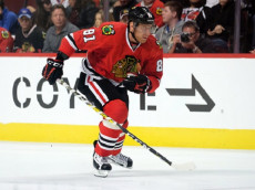 12 October 2016:   Chicago Blackhawks Right Wing Marian Hossa (81) skates in game action between the St. Louis Blues and the Chicago Blackhawks at the United Center in Chicago, IL.  (Photo By Robin Alam/Icon Sportswire via Getty Images)