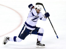 PITTSBURGH, PA - MAY 22: Nikita Kucherov #86 of the Tampa Bay Lightning celebrates after scoring a goal against Marc-Andre Fleury #29 of the Pittsburgh Penguins during the third period in Game Five of the Eastern Conference Final during the 2016 NHL Stanley Cup Playoffs at Consol Energy Center on May 22, 2016 in Pittsburgh, Pennsylvania. (Photo by Matt Kincaid/Getty Images)