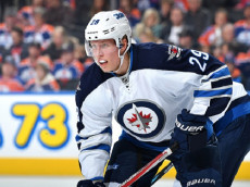 EDMONTON, AB - OCTOBER 6: Patrik Laine #29 of the Winnipeg Jets skates during a preseason game against the Edmonton Oilers on October 6, 2016 at Rogers Place in Edmonton, Alberta, Canada. (Photo by Andy Devlin/NHLI via Getty Images)