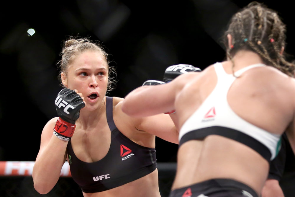 Ronda Rousey vs Bethe Correia in August 2015.