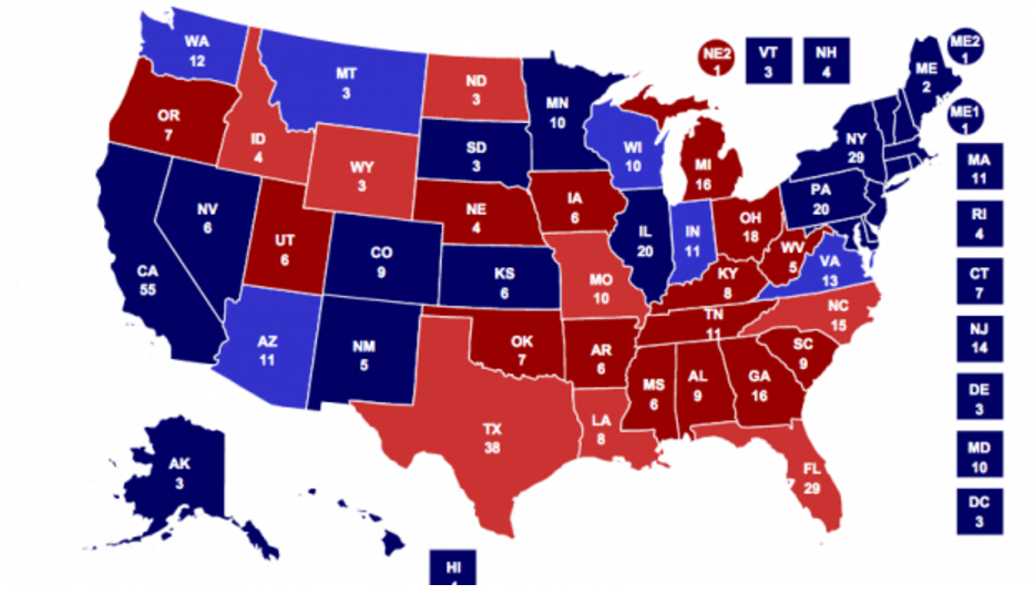 The Electoral Map Of Football The NFL Vs College Football - Map of us rooting for falcons