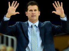 LOS ANGELES, CA - MARCH 02: Head coach Steve Alford of the UCLA Bruins calls a play during the first half against the Oregon Ducks at Pauley Pavilion on March 2, 2016 in Los Angeles, California. (Photo by Harry How/Getty Images)