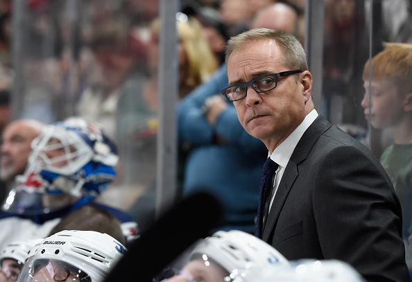 ST PAUL, MN - OCTOBER 15: Head coach Paul Maurice of the Winnipeg Jets looks on during the third period of the game against Minnesota Wild on October 15, 2016 at Xcel Energy Center in St Paul, Minnesota. The Wild defeated the Jets 4-3. (Photo by Hannah Foslien/Getty Images)