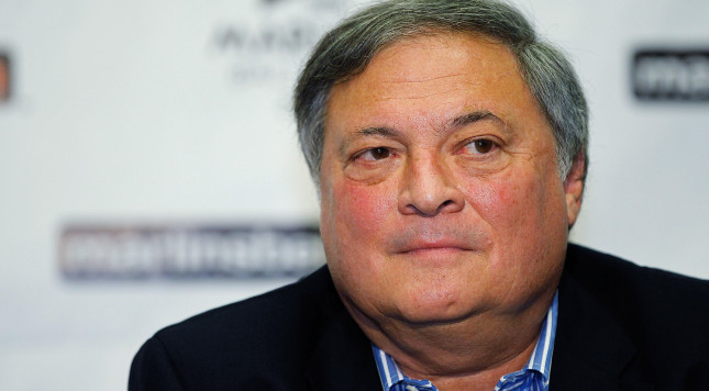 MIAMI GARDENS, FL - SEPTEMBER 28:  The Florida Marlins owner Jeffrey Loria attends a press conference introducing new manager Ozzie Guillen at Sun Life Stadium on September 28, 2011 in Miami Gardens, Florida.  (Photo by Mike Ehrmann/Getty Images)