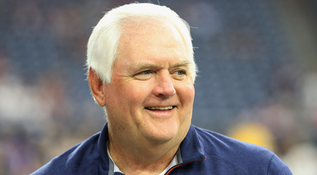 HOUSTON, TX - AUGUST 22:  Defensive coordinator Wade Phillips of the Denver Broncos waits on the field before their game against the Houston Texans  at  NRG Stadium on August 22, 2015 in Houston, Texas.  (Photo by Scott Halleran/Getty Images)