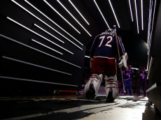 COLUMBUS, OH - OCTOBER 13:  Sergei Bobrovsky #72 of the Columbus Blue Jackets walks on to the ice prior to the start of the game against the Columbus Blue Jackets on October 13, 2016 at Nationwide Arena in Columbus, Ohio. (Photo by Kirk Irwin/Getty Images)