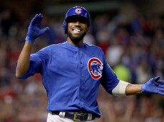 CLEVELAND, OH - NOVEMBER 02:  Dexter Fowler #24 of the Chicago Cubs reacts after lining out during the third inning against the Cleveland Indians in Game Seven of the 2016 World Series at Progressive Field on November 2, 2016 in Cleveland, Ohio.  (Photo by Ezra Shaw/Getty Images)