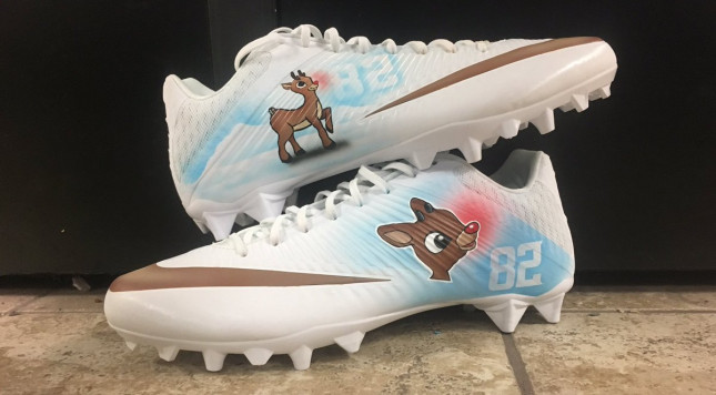Nfl players are going all out with their christmas cleats