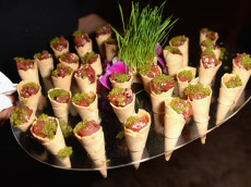 MIAMI BEACH, FL - NOVEMBER 30:  A view of Kuru sushi served at DuJour Media, Gilt & JetSmarter party to kick off Art Basel at The Confidante on November 30, 2016 in Miami Beach, Florida.  (Photo by Gustavo Caballero/Getty Images for DuJour)