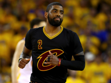 OAKLAND, CA - JUNE 19: Kyrie Irving #2 of the Cleveland Cavaliers reacts after scoring in Game 7 of the 2016 NBA Finals against the Golden State Warriors at ORACLE Arena on June 19, 2016 in Oakland, California. (Photo by Ezra Shaw/Getty Images)