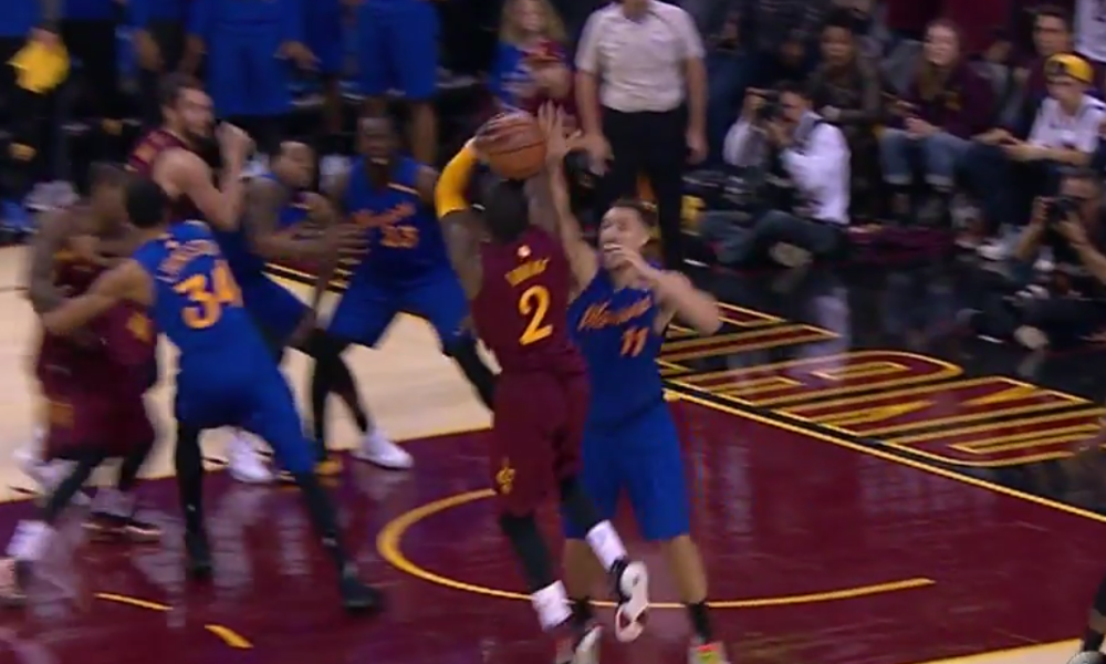 Kyrie Irving does in the Warriors again