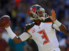 SAN DIEGO, CA - DECEMBER 04: Jameis Winston #3 of the Tampa Bay Buccaneers throws against the San Diego Chargers during the first half at Qualcomm Stadium on December 4, 2016 in San Diego, California. (Photo by Sean M. Haffey/Getty Images)