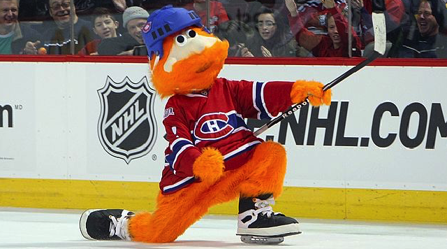 MONTREAL - JANUARY 24: Montreal Canadiens mascot 'Youppi!' skates during the McDonalds/NHL All-Star Open Practice during the 2009 NHL All-Star weekend on January 24, 2009 at the Bell Centre in Montreal, Canada. (Photo by Bruce Bennett/Getty Images)
