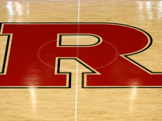 NEW BRUNSWICK, NJ - FEBRUARY 19:  A detail of the Rutgers Scarlet Knights logo is seen at center court against the Syracuse Orange at Louis Brown Athletic Center on February 19, 2012 in New Brunswick, New Jersey.  (Photo by Chris Chambers/Getty Images)
