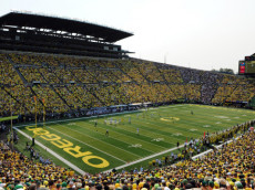 EUGENE, OR -SEPTEMBER 06: A general view of Autzen Stadium during the second quarter of the game between the Oregon Ducks and the Michigan State Spartans at Autzen Stadium on September 6, 2014 in Eugene, Oregon. (Photo by Steve Dykes/Getty Images)