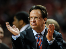 LINCOLN, NE - JANUARY 30: Head coach Tom Crean of the Indiana Hoosiers reacts during a game against the Nebraska Cornhuskersat Pinnacle Bank Arena on January 30, 2014 in Lincoln, Nebraska. (Photo by Eric Francis/Getty Images)