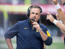 SEATTLE, WA - SEPTEMBER 26: California Golden Bears head coach Sonny Dykes stands on the sidelines during the first half of a game against the Washington Huskies at Husky Stadium on September 26, 2015 in Seattle, Washington. (Photo by Stephen Brashear/Getty Images)