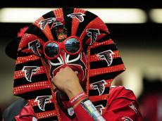 Falcons fan (as a pharaoh?)