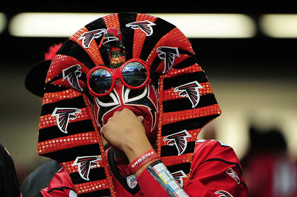 Falcons fan (as a pharaoh?)