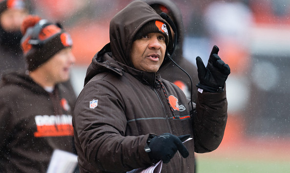 CLEVELAND, OH - DECEMBER 11: Head coach Hue Jackson of the Cleveland Browns during the first half against the Cincinnati Bengals at FirstEnergy Stadium on December 11, 2016 in Cleveland, Ohio. (Photo by Jason Miller/Getty Images) *** Local Caption *** Hue Jackson