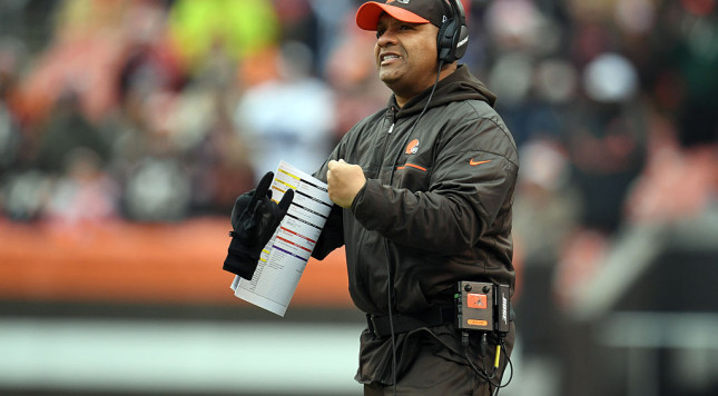 Cleveland Browns' coach Hue Jackson has one thing on his mind: Crowquill