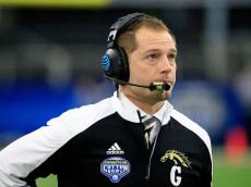 ARLINGTON, TX - JANUARY 02:  P.J. Fleck, head coach of the Western Michigan Broncos looks on during the 81st Goodyear Cotton Bowl Classic between Western Michigan and Wisconsin at AT&T Stadium on January 2, 2017 in Arlington, Texas.  (Photo by Ron Jenkins/Getty Images)